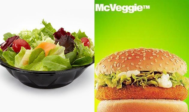 healthy food vs burger king food These fast food burgers aren't a bad option when you get a craving and still  try  these healthier picks at mcdonald's, burger king and more.