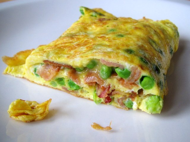 Bacon Avocado: this omelet has spinach, tomatoes, avocado, hickory ...
