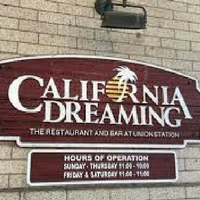California Dreaming Menu Prices