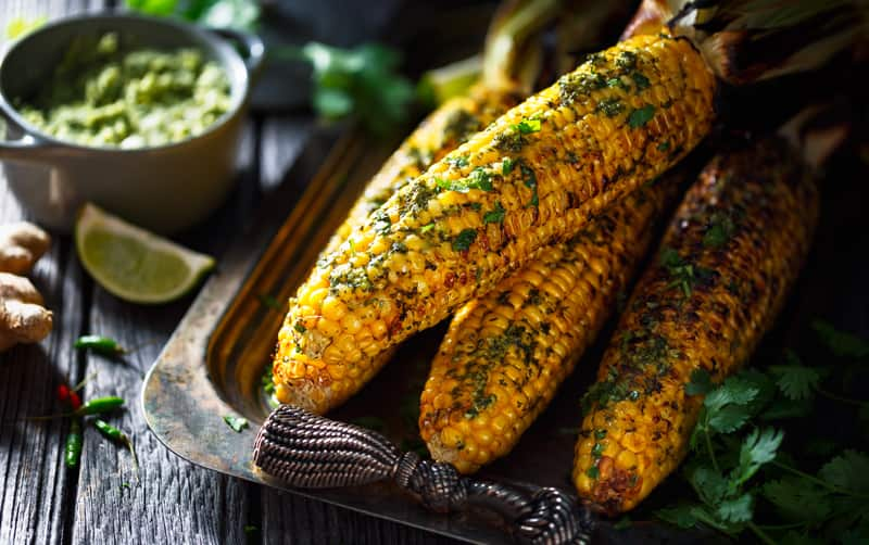Corn on the Cob with Spicy Aioli